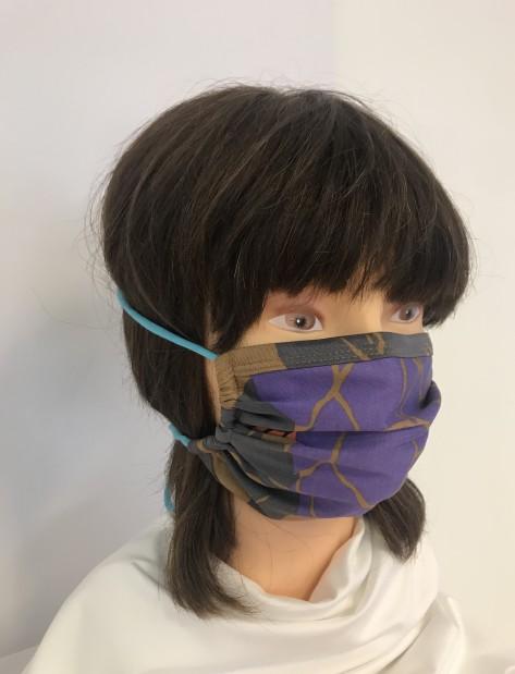 F-Maske lila Blume-Jersey
