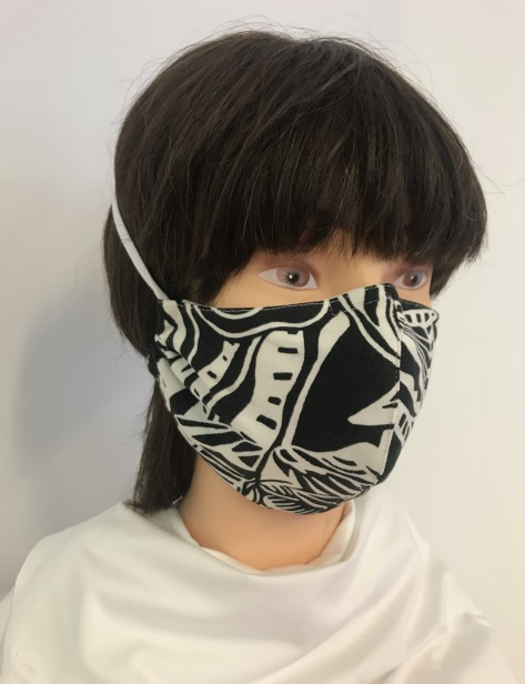 Formmaske schwarz weiss